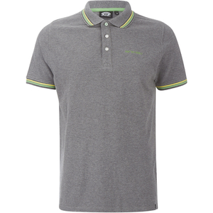 Animal Men's Pique Polo Shirt - Charcoal Grey Marl