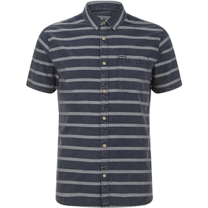Animal Men's Acre Striped Short Sleeve Shirt - Indigo Blue