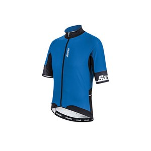 Santini Beta Windstopper Short Sleeve Jersey - Turquoise