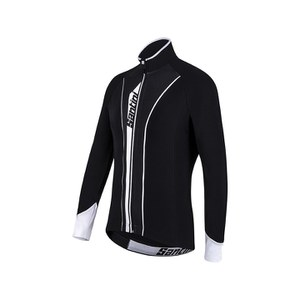 Santini Vega Aquazero Thermofleece Long Sleeve Jersey - Black/White