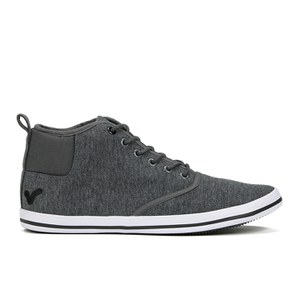 Voi Jeans Men's Cobalt Mid Trainers - Charcoal Marl