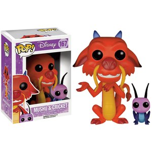 Disney Mulan Mushu & Cricket Pop! Vinyl Figur