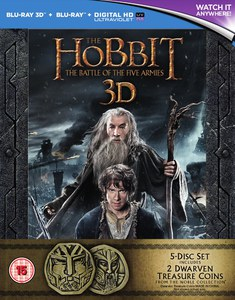 The Hobbit: The Battle of the Five Armies Extended Edition 3D Exclusive Coin Set