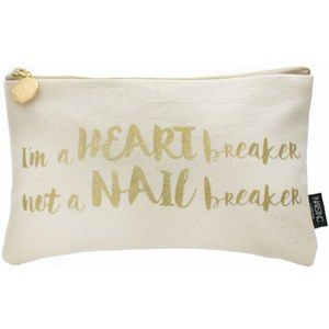 nails inc. Slogan Cosmetic Bag - 'I'm a Heart Breaker not a Nail Breaker'