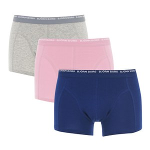 Bjorn Borg Men's 3 Pack Boxer Shorts - Grey Malin