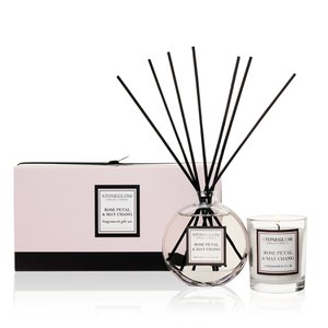 Stoneglow Modern Classics Candle and Reed Gift Set - Rose Petal and May Chang