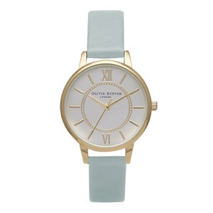 Olivia Burton Women's Wonderland Watch - Gold/Powder Blue