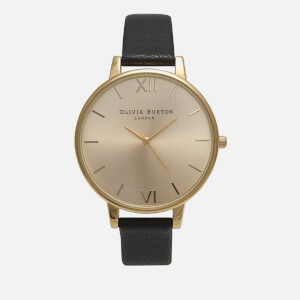 Olivia Burton Women's Big Dial Watch - Black/Gold