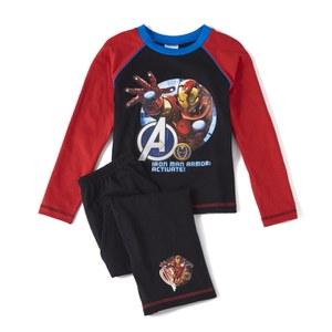 Marvel Avengers Boy's Long Sleeve Pyjamas - Black