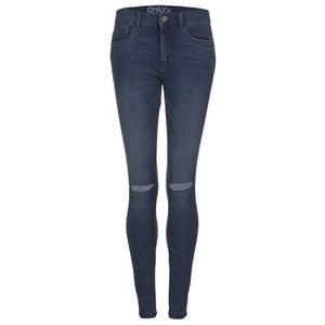ONLY Women's Royal Reg Kneecut Jeans - Medium Blue Denim