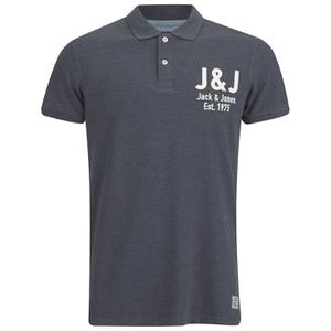 Jack & Jones Men's Moss Polo Shirt - Navy Blazer