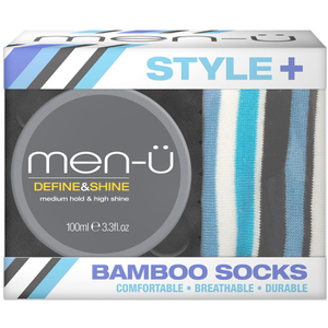 men-ü Style+ Bamboo Socks with Define and Shine Pomade