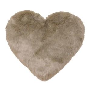 Light Brown Soft Heart Cushion