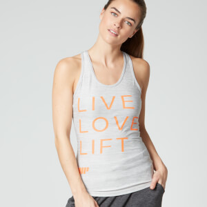 Myprotein Damen Performance Slogan Tank Top- Grau
