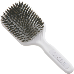 AH13W AirHeadz Medium Pure Bristle Paddle Hair Brush de Kent - White