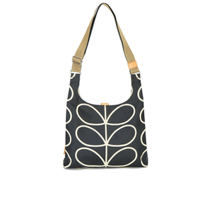 Orla Kiely Women's Stem Leather Midi Sling Bag - Black