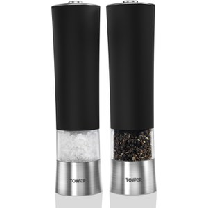 Tower Electric Salt and Pepper Mill - Black