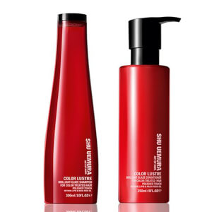 Shu Uemura Art of Hair Color Lustre Shampoo senza solfati (300 ml) e Conditioner (250 ml)