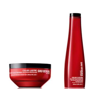 Shu Uemura Art of Hair Color Lustre Sulfate Free Shampoo (300ml) and Color Lustre Masque (200ml)