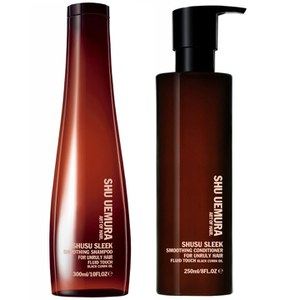 Shu Uemura Art of Hair Shusu Sleek -shampoo (300ml) ja -hoitoaine (250ml)