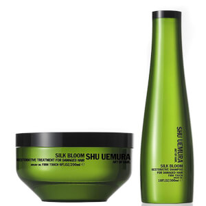 Shu Uemura Art of Hair Silk Bloom Shampoo (300 ml) e trattamento riparatore (200 ml)