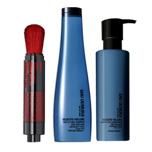 Shu Uemura Art of Hair Muroto Volume Pure Lightness Shampoo (300ml), Conditioner (250ml) og Volume Maker (2g)