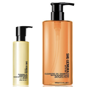 Shampoo para couro cabeludo seco (400 ml) e Condicionador (250 ml) Cleansing Oil da Shu Uemura Art of Hair
