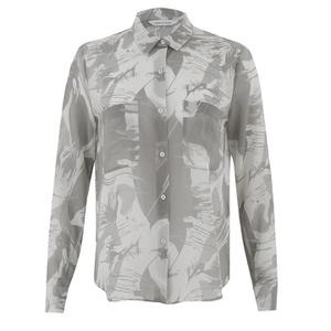 Samsoe & Samsoe Women's Molly Aop Shirt - Thrill Grey