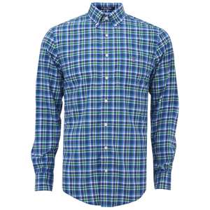 GANT Men's Matchpoint Poplin Check Shirt - Kelly Green