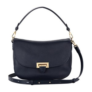 Aspinal of London Women's Letterbox Slouchy Saddle Bag - Navy