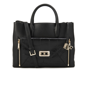 Diane von Furstenberg Women's Gallery Large Secret Agent Leather Tote Bag - Black