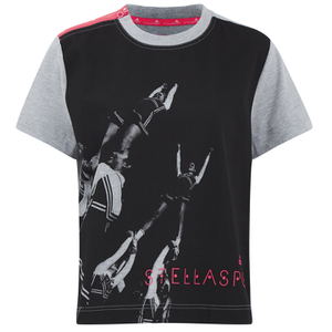 adidas Women's Stella Sport Gym Print Photo T-Shirt - Grey