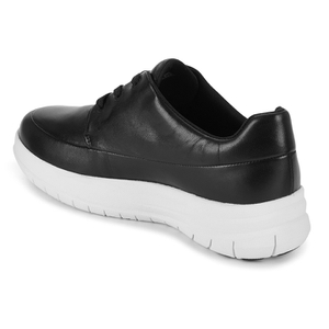 FitFlop Women's Sporty Pop Leather Sneaker Trainers BlackWhite: Image 5