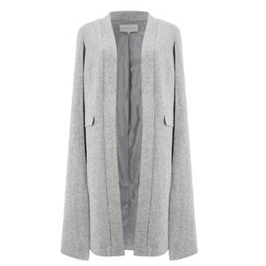 Lavish Alice Women's Felt Cape Coat - Grey