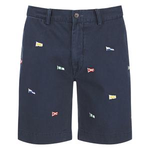 Polo Ralph Lauren Men's Hudson Patterned Slim Shorts - Navy