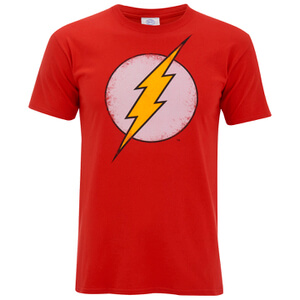 T-Shirt DC Comics Flash Effet Usé - Rouge