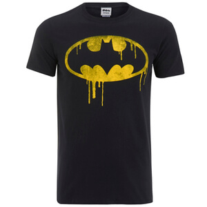 DC Comics Batman Dripping Logo Heren T-Shirt - Zwart
