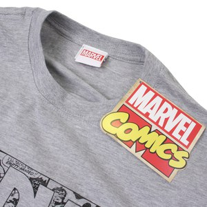 Marvel Men's Strip Logo T-Shirt - Sport Grey: Image 3
