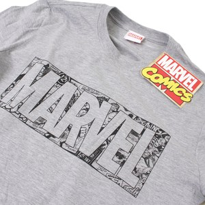 Marvel Men's Strip Logo T-Shirt - Sport Grey: Image 2