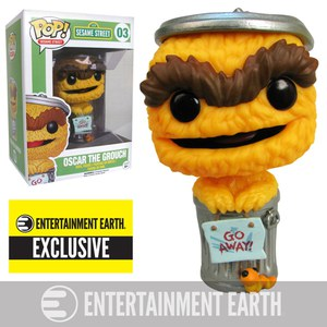 Sesame Street Oscar The Grouch Orange Debut Entertainment Earth Exclsuive Pop! Vinyl Figure