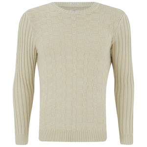 GANT Rugger Men's Chunkster Crew Neck Knitted Jumper - Cream