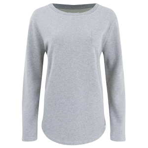 Derek Rose Women's Devon Sweat Top - Light Grey