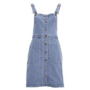 VILA Women's Lagos Denim Spencer Dress - Light Blue Denim