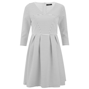 VILA Women's Shale Sailor 3/4 Sleeve Dress - Pristine