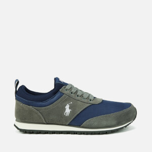 Polo Ralph Lauren Men's Ponteland Suede Sports Trainers - Museum Grey/Newport Navy