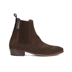 H Shoes by Hudson Men's Watts Suede Chelsea Boots - Brown