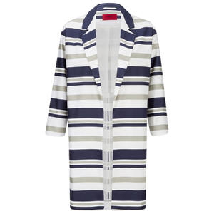 HUGO Women's Micola Striped Coat - Multi