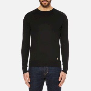 Versace Collection Men's Medusa Logo Knitted Jumper - Black