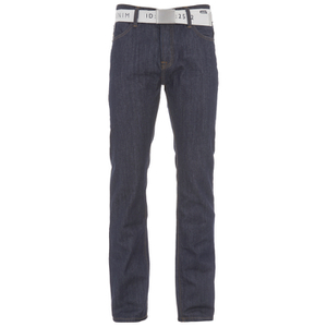 Smith & Jones Men's Farrier Belted Denim Jeans - Dark Wash