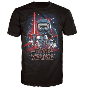 Camiseta Pop! Póster Star Wars: Episodio VII - Negro